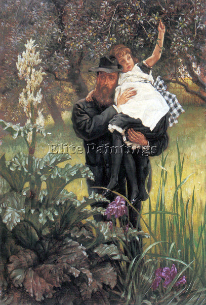 TISSOT THE WIDOWER ARTIST PAINTING REPRODUCTION HANDMADE CANVAS REPRO WALL DECO