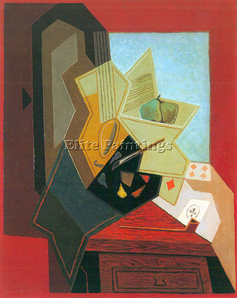 JUAN GRIS THE WINDOW OF THE PAINTER ARTIST PAINTING REPRODUCTION HANDMADE OIL
