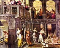 TINTORETTO THE WISE AND FOOLISH VIRGINS ARTIST PAINTING REPRODUCTION HANDMADE