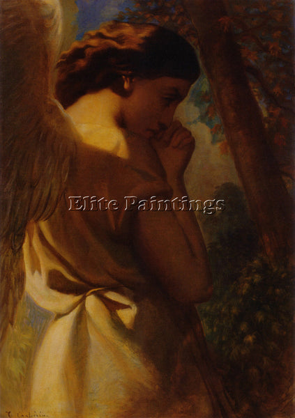 BRITISH THEODORECHAISSERIAU THEANGEL C1840 LARGE ARTIST PAINTING HANDMADE CANVAS