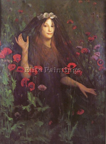 THOMAS COOPER GOTCH DEATH THE BRIDE ARTIST PAINTING REPRODUCTION HANDMADE OIL