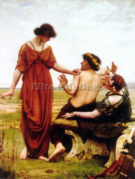 THOMAS COOPER GOTCH DESTINY ARTIST PAINTING REPRODUCTION HANDMADE OIL CANVAS ART