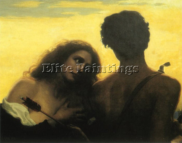 THOMAS COOPER GOTCH MONSIGNEUR LOVE ARTIST PAINTING REPRODUCTION HANDMADE OIL