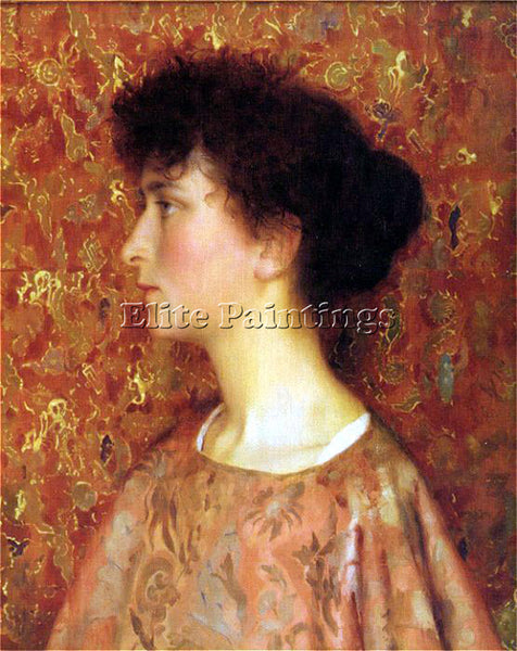 THOMAS COOPER GOTCH STUDY OF A YOUNG WOMAN ARTIST PAINTING REPRODUCTION HANDMADE