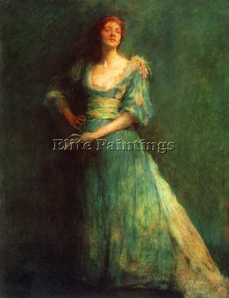 THOMAS WILMER DEWING COMEDIA 1895 ARTIST PAINTING REPRODUCTION HANDMADE OIL DECO