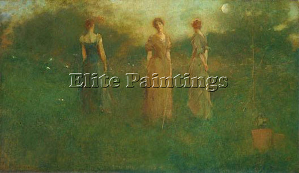 THOMAS WILMER DEWING IN THE GARDEN 1892  ARTIST PAINTING REPRODUCTION HANDMADE