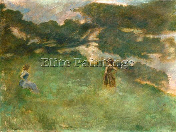 THOMAS WILMER DEWING THE HERMIT THRUSH 1890  ARTIST PAINTING HANDMADE OIL CANVAS