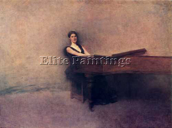 THOMAS WILMER DEWING THE PIANO 1891  ARTIST PAINTING REPRODUCTION HANDMADE OIL