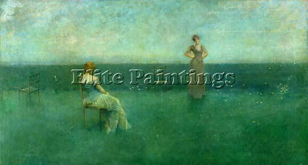 THOMAS WILMER DEWING THE RECITATION 1891  ARTIST PAINTING REPRODUCTION HANDMADE