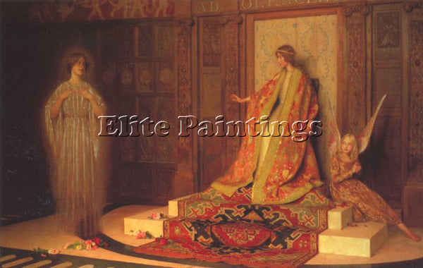 THOMAS COOPER GOTCH DAWN OF WOMAN HOOD ARTIST PAINTING REPRODUCTION HANDMADE OIL