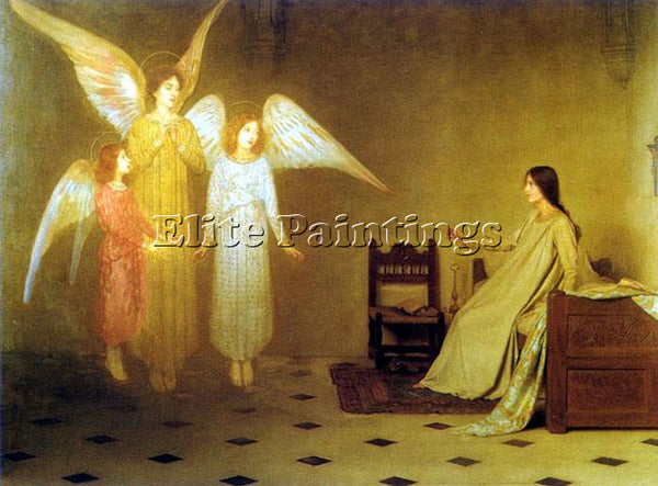 THOMAS COOPER GOTCH THE AWAKENING ARTIST PAINTING REPRODUCTION HANDMADE OIL DECO