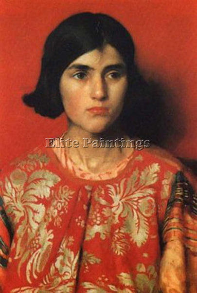 THOMAS COOPER GOTCH THE EXILE 1930 SMALL ARTIST PAINTING REPRODUCTION HANDMADE