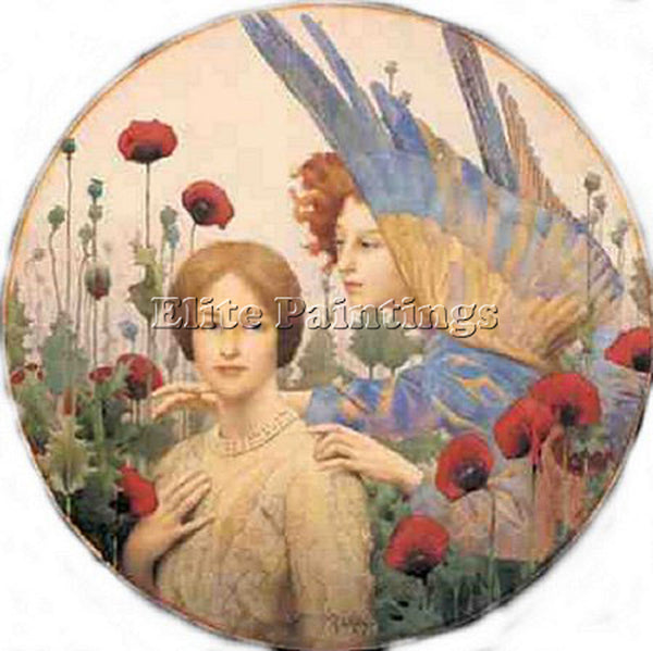 THOMAS COOPER GOTCH THE MESSAGE ARTIST PAINTING REPRODUCTION HANDMADE OIL CANVAS