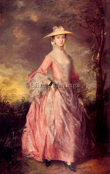 THOMAS GAINSBOROUGH MARY COUNTESS HOWE ARTIST PAINTING REPRODUCTION HANDMADE OIL