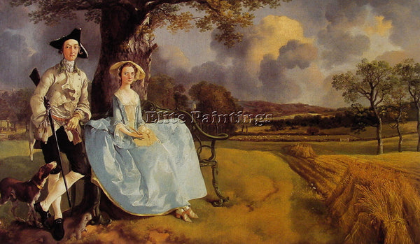 THOMAS GAINSBOROUGH MR AND MRS ANDREWS ARTIST PAINTING REPRODUCTION HANDMADE OIL