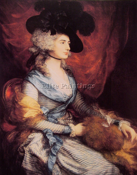 THOMAS GAINSBOROUGH MRS SIDDONS ARTIST PAINTING REPRODUCTION HANDMADE OIL CANVAS