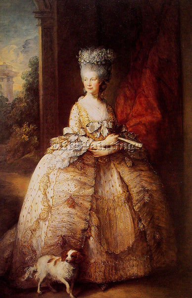 THOMAS GAINSBOROUGH QUEEN CHARLOTTE ARTIST PAINTING REPRODUCTION HANDMADE OIL