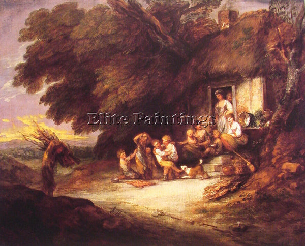 THOMAS GAINSBOROUGH THE COTTAGE DOOR ARTIST PAINTING REPRODUCTION HANDMADE OIL
