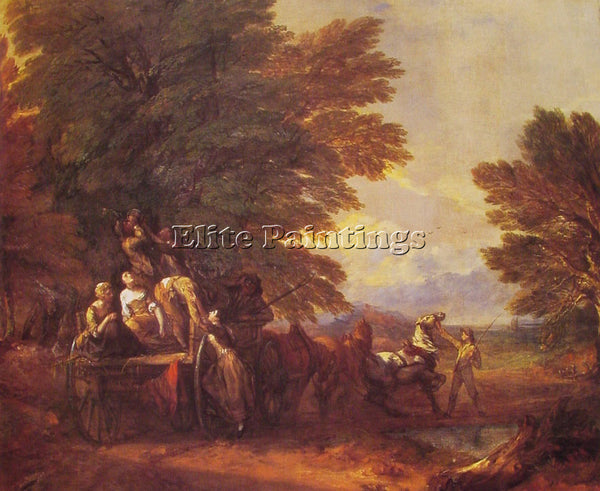 THOMAS GAINSBOROUGH THE HARVEST WAGON ARTIST PAINTING REPRODUCTION HANDMADE OIL
