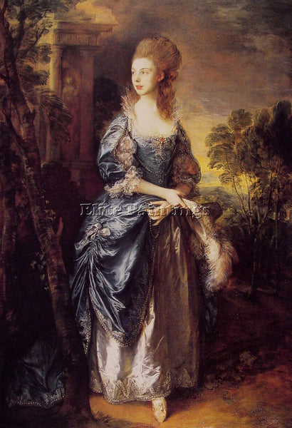 THOMAS GAINSBOROUGH THE HON FRANCES DUNCOMBE ARTIST PAINTING HANDMADE OIL CANVAS