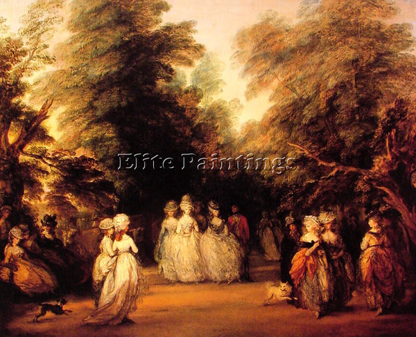 THOMAS GAINSBOROUGH THE MALL ARTIST PAINTING REPRODUCTION HANDMADE CANVAS REPRO