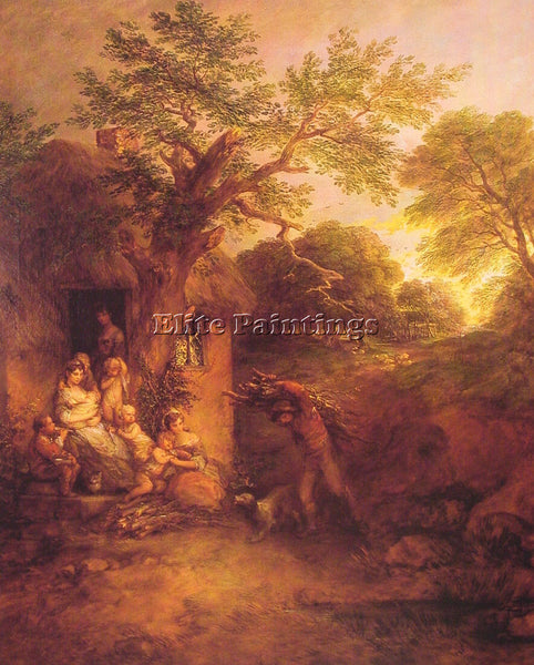 THOMAS GAINSBOROUGH THE WOODCUTTERS RETURN ARTIST PAINTING REPRODUCTION HANDMADE