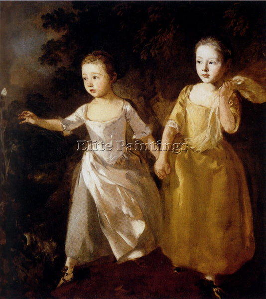 THOMAS GAINSBOROUGH  PAINTERS DAUGHTERS ARTIST PAINTING REPRODUCTION HANDMADE