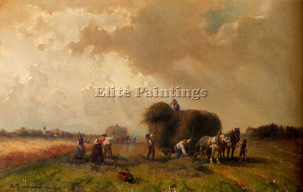 GERMAN THOMASSIN DESIRE HARVEST TIME ARTIST PAINTING REPRODUCTION HANDMADE OIL