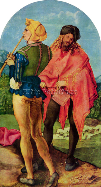 DURER THREE ALTAR DETAIL 1  ARTIST PAINTING REPRODUCTION HANDMADE OIL CANVAS ART