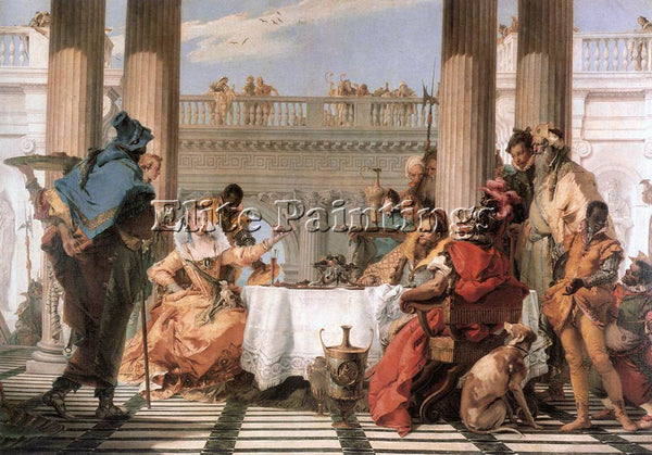 GIOVANNI BATTISTA TIEPOLO THE BANQUET OF CLEOPATRA ARTIST PAINTING REPRODUCTION
