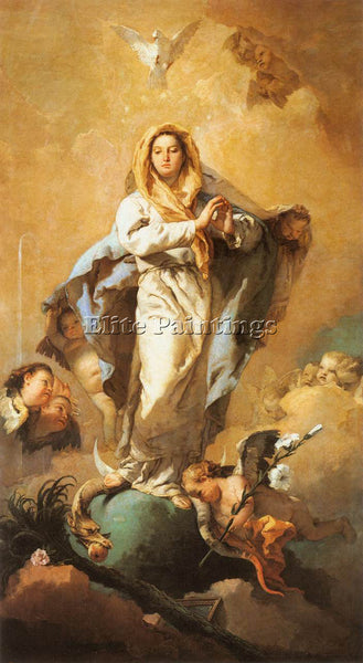 GIOVANNI BATTISTA TIEPOLO THE IMMACULATE CONCEPTION ARTIST PAINTING REPRODUCTION
