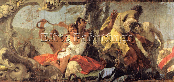 GIOVANNI BATTISTA TIEPOLO THE SCOURGE OF THE SERPENTS DETAIL1 PAINTING HANDMADE