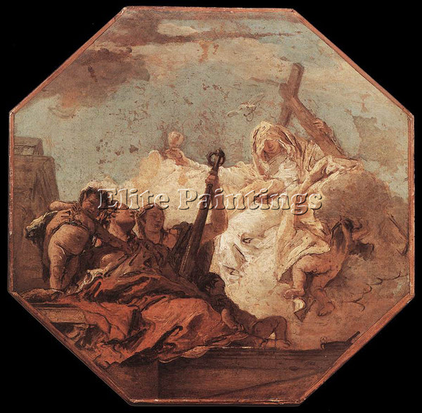 GIOVANNI BATTISTA TIEPOLO THE THEOLOGICAL VIRTUES ARTIST PAINTING REPRODUCTION