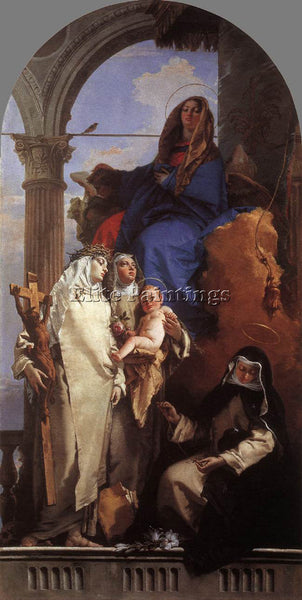 GIOVANNI BATTISTA TIEPOLO THE VIRGIN APPEARING TO DOMINICAN SAINTS REPRODUCTION