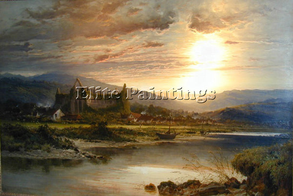 BENJAMIN WILLIAMS LEADER TINTERN ABBEY ARTIST PAINTING REPRODUCTION HANDMADE OIL