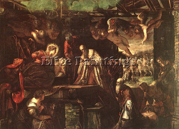 JACOPO ROBUSTI TINTORETTO ADORATION OF THE MAGI ARTIST PAINTING REPRODUCTION OIL