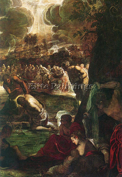 JACOPO ROBUSTI TINTORETTO BAPTISM OF CHRIST DETAIL1 ARTIST PAINTING REPRODUCTION