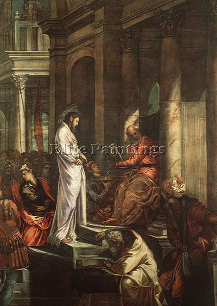 JACOPO ROBUSTI TINTORETTO CHRIST BEFORE PILATE ARTIST PAINTING REPRODUCTION OIL