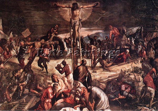 JACOPO ROBUSTI TINTORETTO CRUCIFIXION DETAIL1 ARTIST PAINTING REPRODUCTION OIL