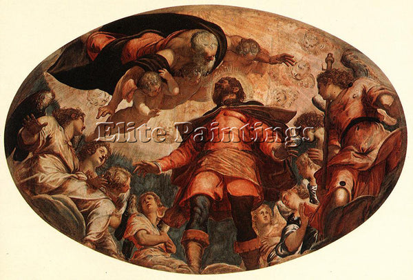 JACOPO ROBUSTI TINTORETTO GLORIFICATION OF ST ROCH ARTIST PAINTING REPRODUCTION