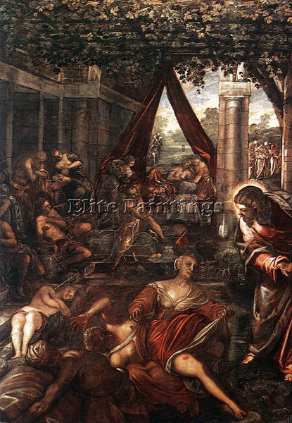 JACOPO ROBUSTI TINTORETTO LA PROBATICA PISCINA ARTIST PAINTING REPRODUCTION OIL