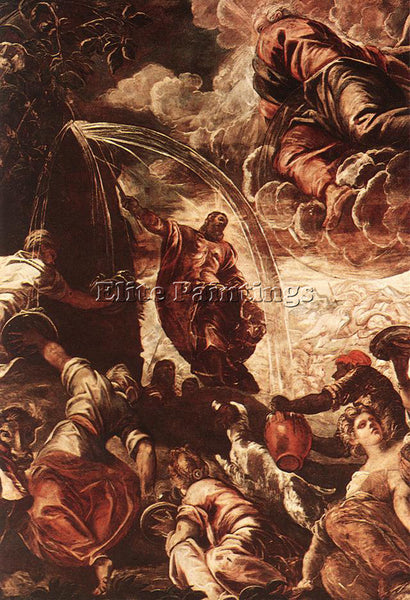 JACOPO ROBUSTI TINTORETTO MOSES DRAWING WATER FROM THE ROCK DETAIL1 PAINTING OIL