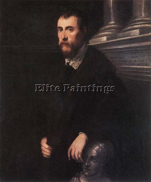 JACOPO ROBUSTI TINTORETTO PORTRAIT OF GIOVANNI PAOLO CORNARO ARTIST PAINTING OIL