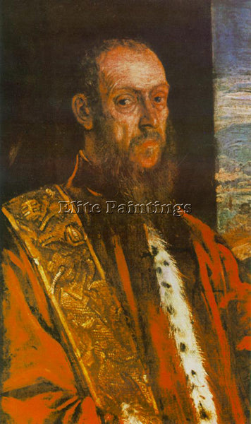 JACOPO ROBUSTI TINTORETTO PORTRAIT OF VINCENZO MOROSINI ARTIST PAINTING HANDMADE