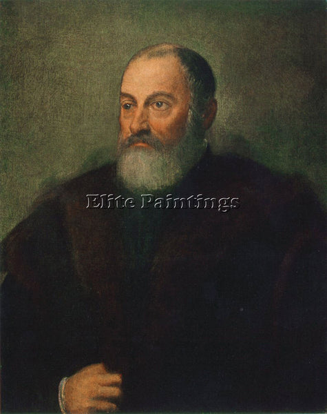 JACOPO ROBUSTI TINTORETTO PORTRAIT OF A MAN C1560 ARTIST PAINTING REPRODUCTION