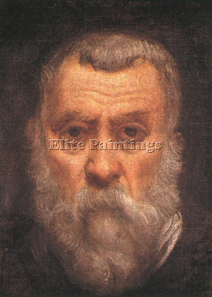JACOPO ROBUSTI TINTORETTO SELF PORTRAIT DETAIL1 ARTIST PAINTING REPRODUCTION OIL