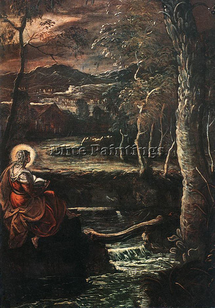 JACOPO ROBUSTI TINTORETTO ST MARY OF EGYPT ARTIST PAINTING REPRODUCTION HANDMADE