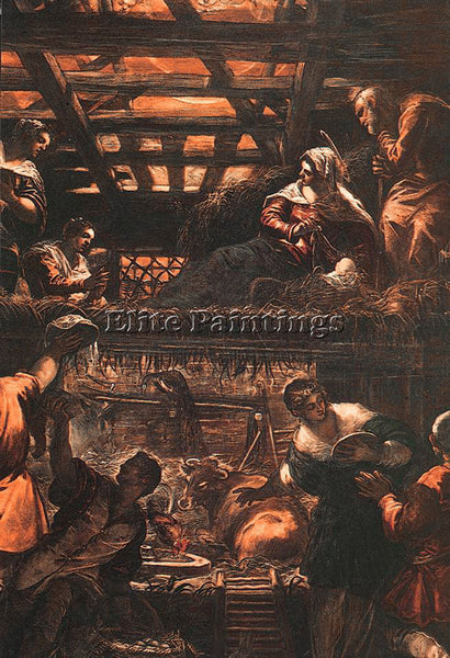 JACOPO ROBUSTI TINTORETTO THE ADORATION OF THE SHEPHERDS ARTIST PAINTING CANVAS