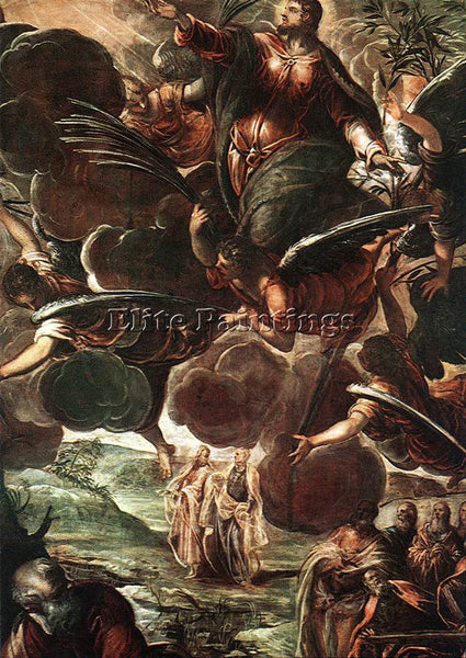 JACOPO ROBUSTI TINTORETTO THE ASCENSION DETAIL1 ARTIST PAINTING REPRODUCTION OIL