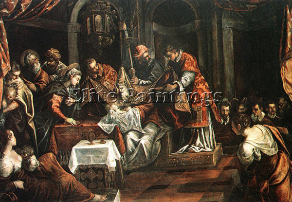 JACOPO ROBUSTI TINTORETTO THE CIRCUMCISION ARTIST PAINTING REPRODUCTION HANDMADE
